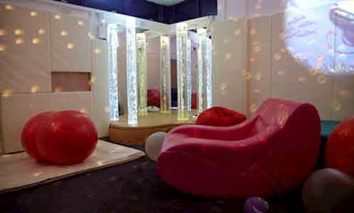 close up of sensory room in Hollyrood