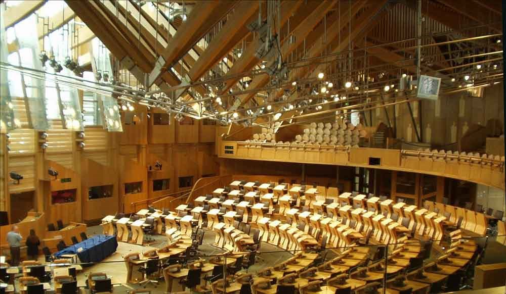 stock photo of the Scottish Parliament