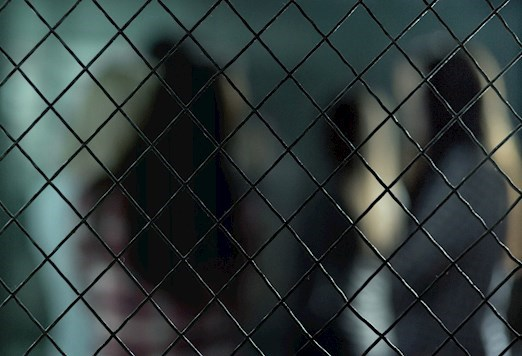 chain link inside a womens prison