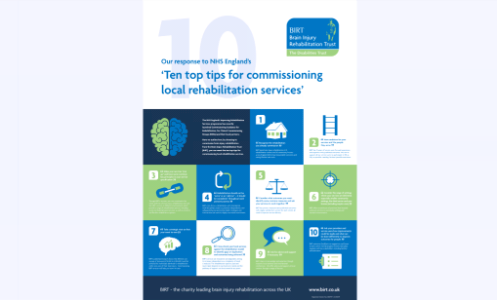 Ten top tips for commissioning local rehabilitation services poster