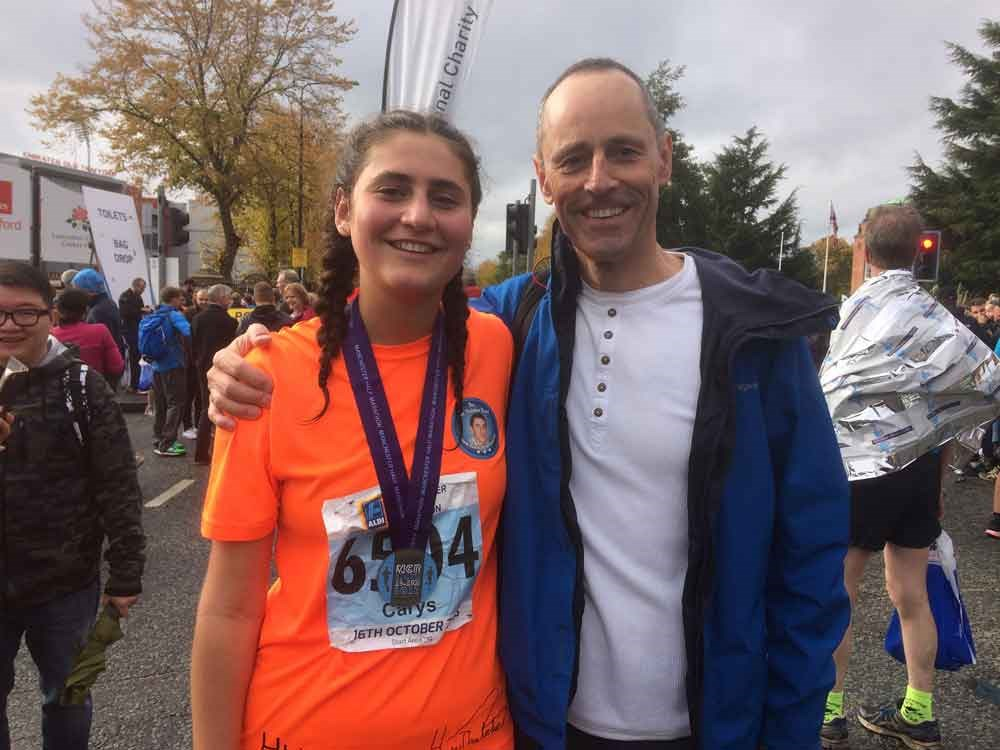winning a race in memory of Huw Thatcher