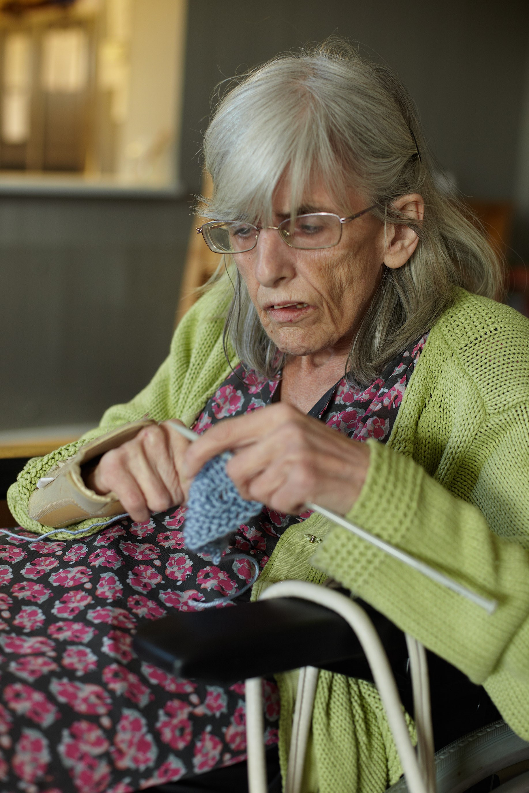Gregory Court service user knitting