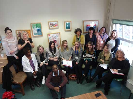 Nurses at a training day in York House