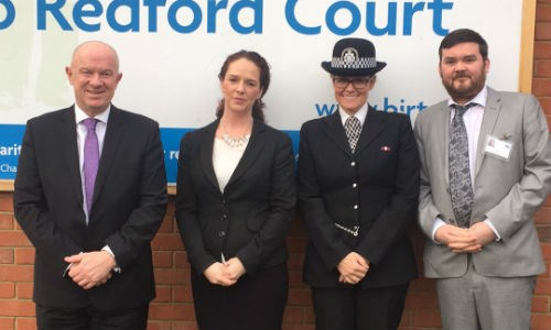 The police visit Redford Court