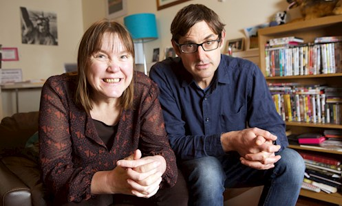 Louis Theroux with Amanda in The Woodmill