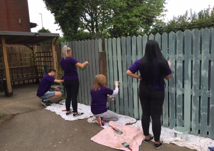 Thank you to Minster Law who gave up their time to help at Daniel Yorath House