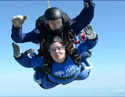 Laura skydiving