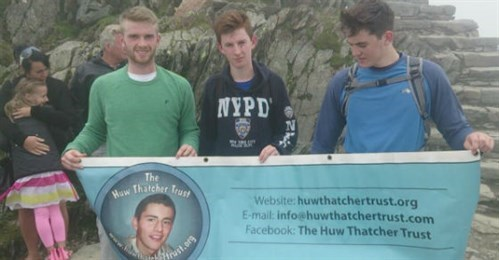 friends posing to remember Huw for fundraising event