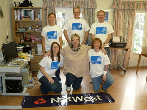 Natwest fundraising team in Shinewater Court, Eastbourne