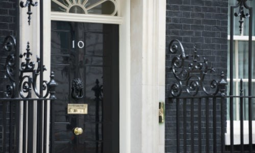 stock photo of the front of 10 Downing Street