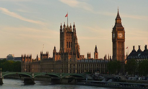 stock photo of Westminster by the Thames